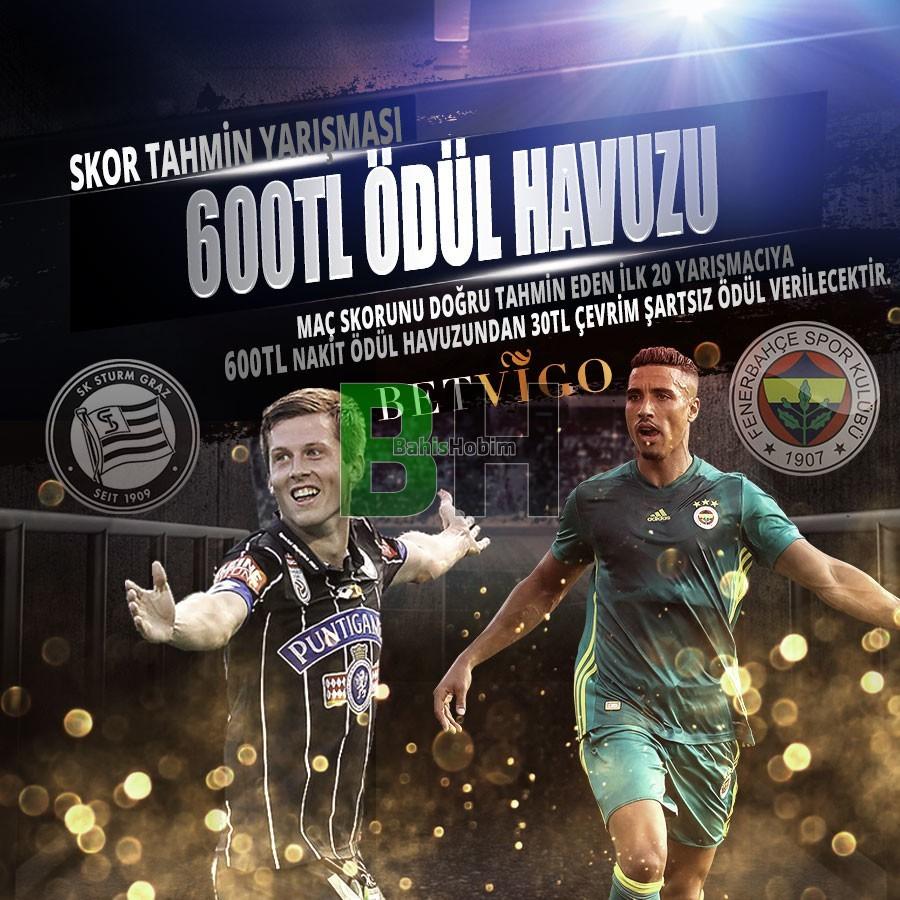 etkinlik1 - Sturm Graz - Fenerbahçe Maçı Skor Tahmin Yarışması 600 TL Ödül Havuzu